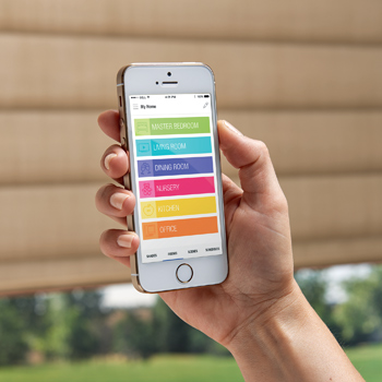 use your smart phone to adjust remote control blinds san antonio
