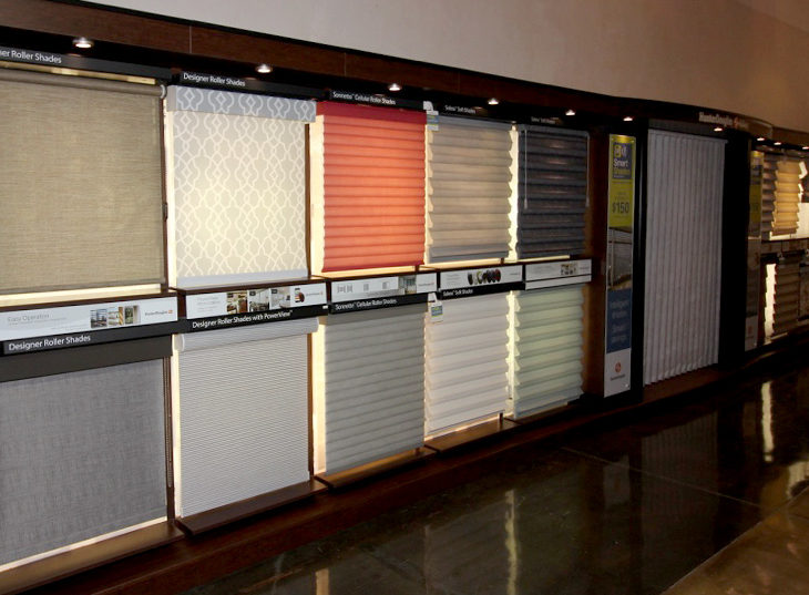full size displays of window treatments san antonio