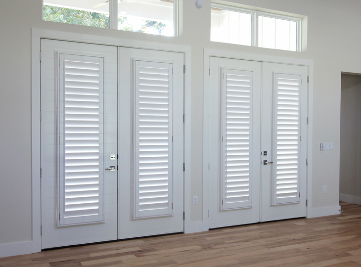 white french doors with the best plantation shutters san antonio TX
