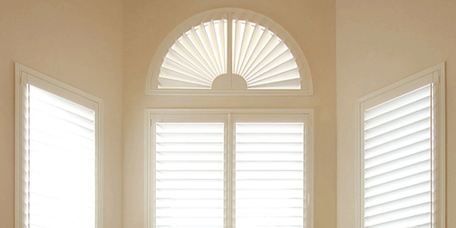 what window coverings are good as arched window treatments