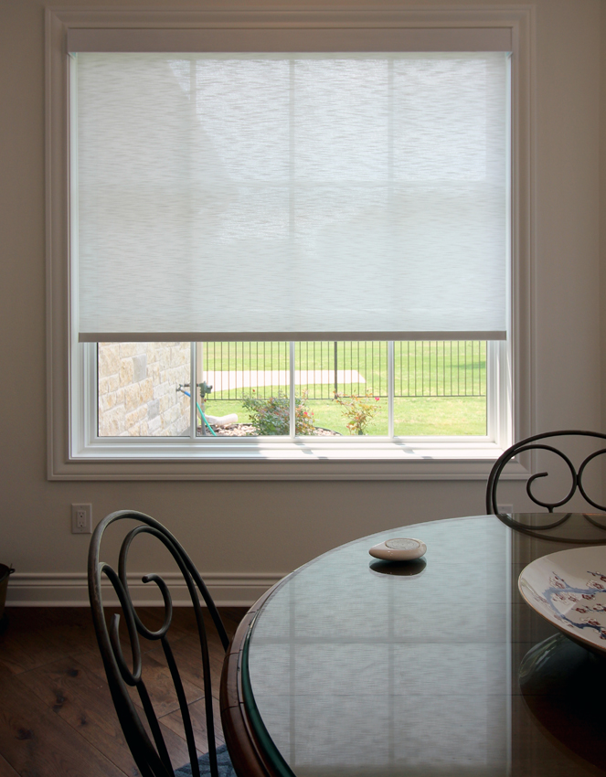 dining room designer roller shades Hunter Douglas San Antonio 78249