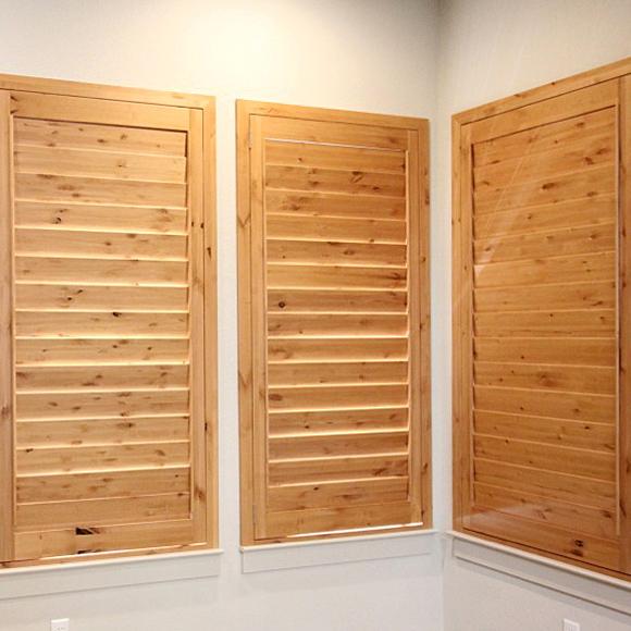 ohair custom wood shutters by knotty adler in San Antonio 78249