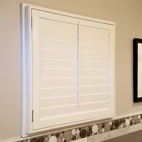 ohair custom white painted interior shutter options in San Antonio 78249