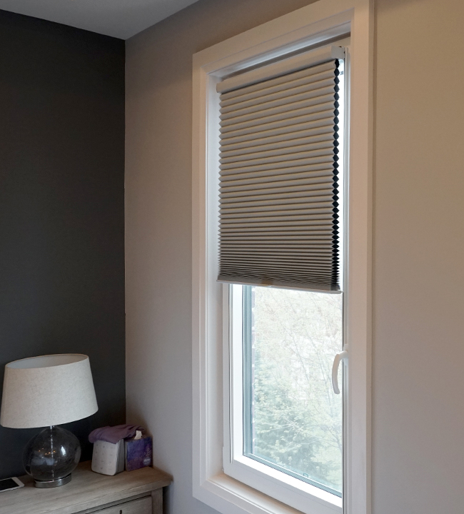 bedroom turn and tilt Hunter Douglas duette honeycomb track glide shades San Antonio 78249