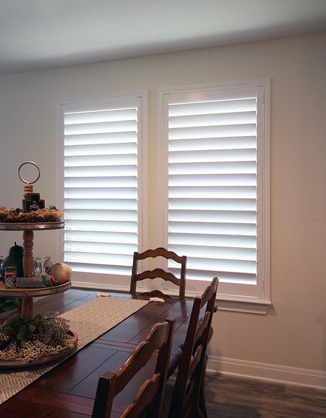 dining room wood plantation shutters San Antonio TX
