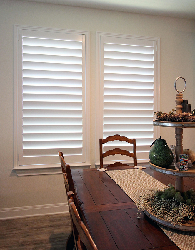 San Antonio home with plantation shutters inside.