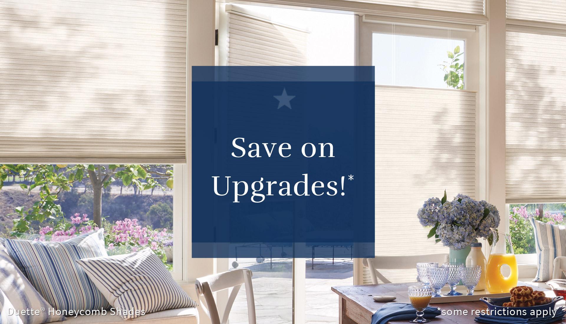free upgrades for window treatments Hunter Douglas San Antonio 78249