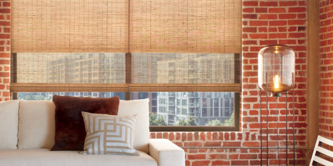 brick walls urban style woven woods window fashions of texas