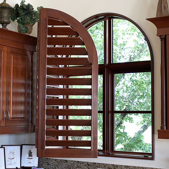 arched window shutters in San Antonio TX