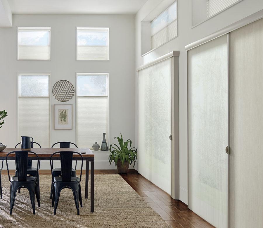 energy efficient window treatments in San Antonio TX dining room