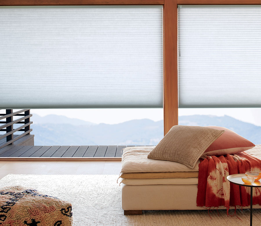 large windows with cellular shades in San Antonio TX