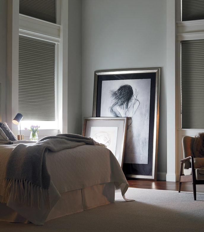 duette honeycomb shades as room darkening shades in San Antonio TX