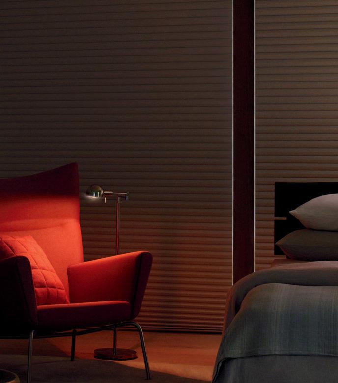 sonnette honeycomb roller shades as room darkening blinds in San Antonio TX