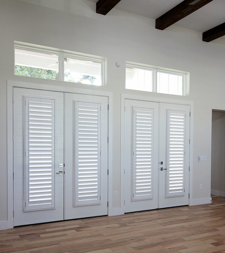 double set of french doors with white shutters in San Antonio TX