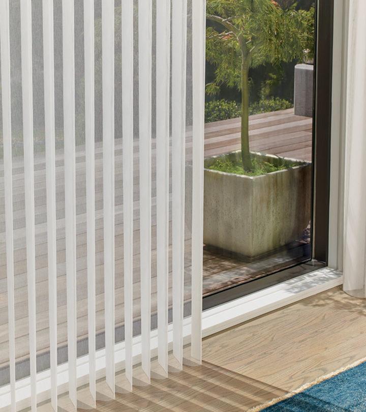 sliding glass door custom vertical blinds in San Antonio TX