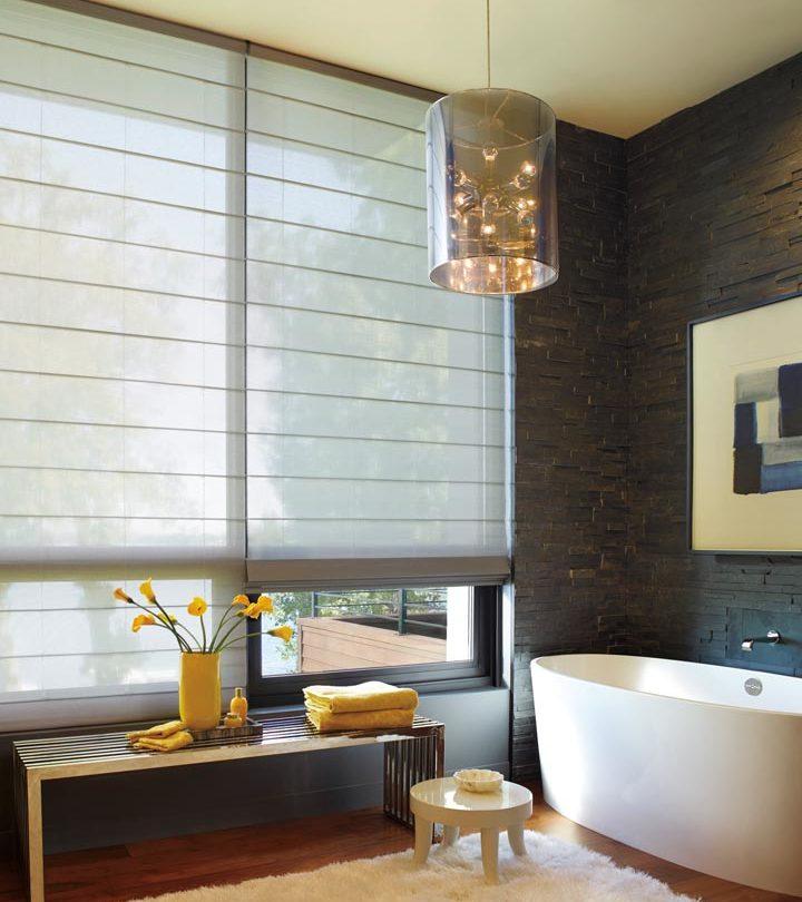 bathroom window shades for large windows in San Antonio TX