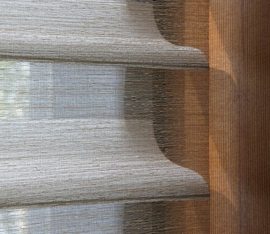 close up of fabric silhouete shades in san Antonio home