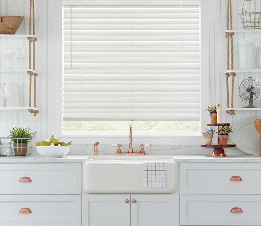 white wood blinds Hunter Douglas blinds San Antonio